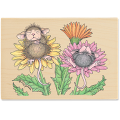 Bed of Flowers (April 2010) - House-Mouse Designs rubber stamps