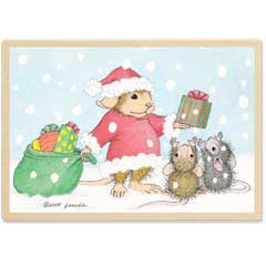St. Nick Mouse (December 2010) - House-Mouse Designs rubber stamps