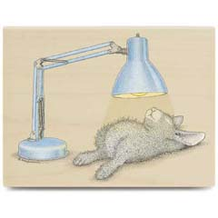 Spot Light - House Mouse HappyHoppers rubber stamps
