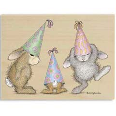 Party Hoppers - House Mouse HappyHoppers rubber stamps