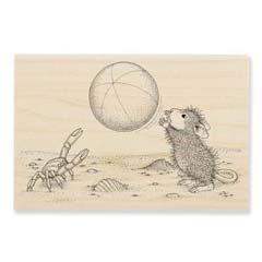 BEACH  TOSS - Select Wood Mounted rubber stamps on sale! Save 25%