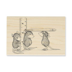Measuring Up - Select Wood Mounted rubber stamps on sale! Save 25%