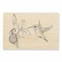 IRIS CLIMBER - Our Newest House-Mouse Designs® Wood Mounted rubber stamps