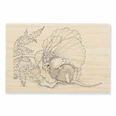 POPPY NAP - Our Newest House-Mouse Designs® Wood Mounted rubber stamps