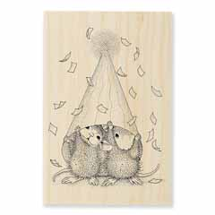 PARTY PEEKING - Our Newest House-Mouse Designs® Wood Mounted rubber stamps