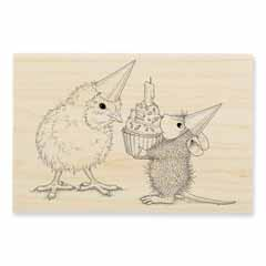 BIRTHDAY CHICK - Our Newest House-Mouse Designs® Wood Mounted rubber stamps