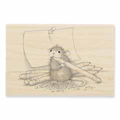 PENCIL SHARPENER - Our Newest House-Mouse Designs® Wood Mounted rubber stamps