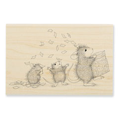 Tossing Confetti Rubber Stamp - Our Newest House-Mouse Designs® Wood Mounted rubber stamps