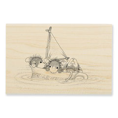 Sail Cup Rubber Stamp - Our Newest House-Mouse Designs® Wood Mounted rubber stamps