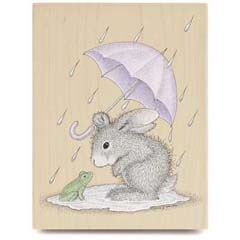 Puddle Fun - House Mouse HappyHoppers rubber stamps