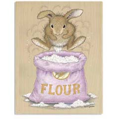 Dust Bunny - House Mouse HappyHoppers rubber stamps