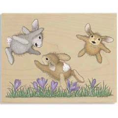 Hoppy Fliers - House Mouse HappyHoppers rubber stamps