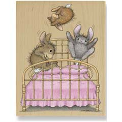 Bunny Hop - House Mouse HappyHoppers rubber stamps