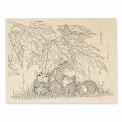 RAINFALL SHELTER - Our Newest House-Mouse Designs® Wood Mounted rubber stamps