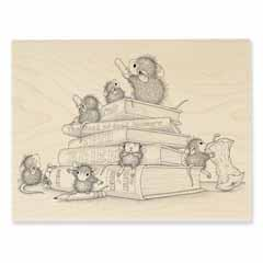 SCHOOL MICE - Our Newest House-Mouse Designs® Wood Mounted rubber stamps