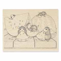SUMMER SNACKING - Our Newest House-Mouse Designs® Wood Mounted rubber stamps