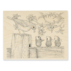 Tweet Treat Wood Mounted - Our Newest House-Mouse Designs® Wood Mounted rubber stamps