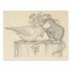 BIRDIE KISS - Select Wood Mounted rubber stamps on sale! Save 25%