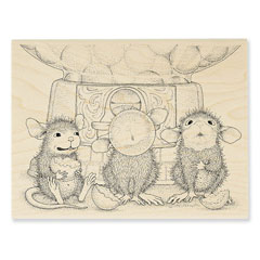 Gumball Gathering - Select Wood Mounted rubber stamps on sale! Save 25%