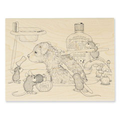 Dog Wash - Select Wood Mounted rubber stamps on sale! Save 25%