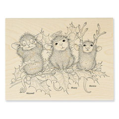CHRISTMAS CHARACTERS - Select Wood Mounted rubber stamps on sale! Save 25%