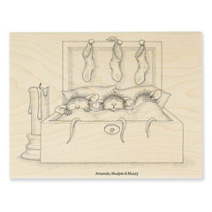 NESTLED IN BED - Select Wood Mounted rubber stamps on sale! Save 25%