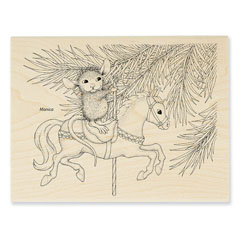 CAROUSEL ORNAMENT - Select Wood Mounted rubber stamps on sale! Save 25%
