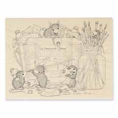 PLAYFUL PAINTERS - Select Wood Mounted rubber stamps on sale! Save 25%