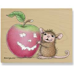 Apple Delight (August 2008) - House Mouse rubber stamp