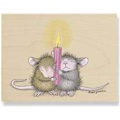 Candle Light Vigil (Dec 2008) - House Mouse rubber stamp