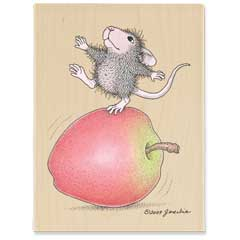 Bobbing on Apples (Aug. 2010) - House-Mouse Designs rubber stamps