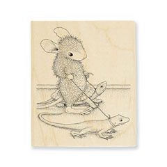 Reptile Walk - Select Wood Mounted rubber stamps on sale! Save 25%