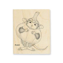 PUMPKIN MOUSE - Select Wood Mounted rubber stamps on sale! Save 25%