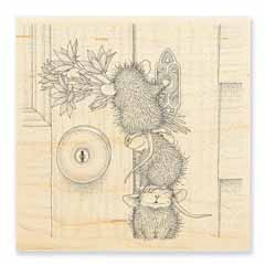 DOORBELL RINGERS - Our Newest House-Mouse Designs® Wood Mounted rubber stamps