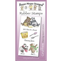 Gruffies - Dancing Queen - Unmounted Rubber Stamp Set