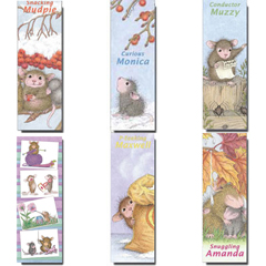 Set of 6 Laminated Bookmarks