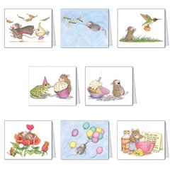 Our Newest Assortment - House-Mouse Designs® Assorted Packages of 8 Note cards