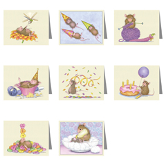 8 Assorted Note Cards / 8 envs - House-Mouse Designs® Assorted Packages of 8 Note cards