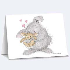 8 Love Bunny Notecards /Envs