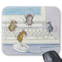 "Mouse pad measures roughly 9"" x 8"" x 1/4"""