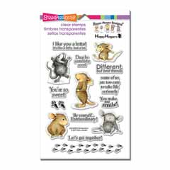 House-Mouse So Sweet Perfectly - Our Newest House-Mouse Designs® Cling rubber stamps