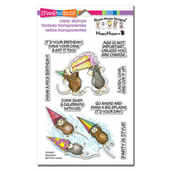 Cling Birthday Splash Set - Our Newest House-Mouse Designs® Cling Rubber Stamp set