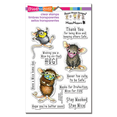 Be Safe, Be Well - set of 10 - Our Newest House-Mouse Designs® Cling Rubber Stamp set