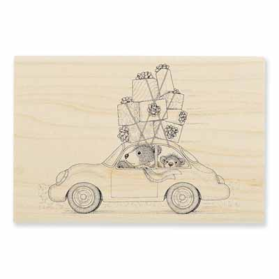 HOLIDAY TRAVEL - House-Mouse Rubber Stamp