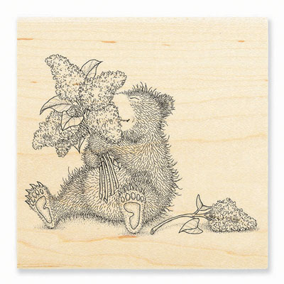 LILAC BEAR - House-Mouse Rubber Stamp