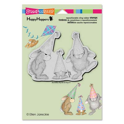 CLING PARTY HATS - House-Mouse Rubber Stamp