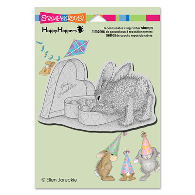 CLING BON BON BUNNY - House-Mouse Rubber Stamp
