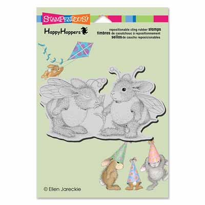 CLING BUMBLE BUNNIES - House-Mouse Rubber Stamp