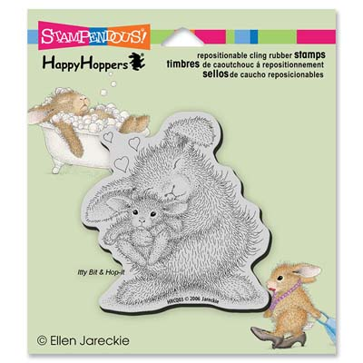 CLING BUNNY LUV - House-Mouse Rubber Stamp