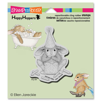 CLING Cake Nibbler - House-Mouse Rubber Stamp